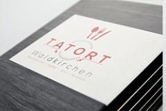 Printkarte in Buchoptik mit individuellem Design - Gastrotopcard