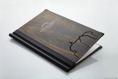 Holzklemmkarte mit Branding - Gastrotopcard