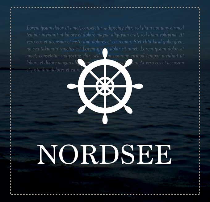 Nordsee - Individuelles Speisekarten Design