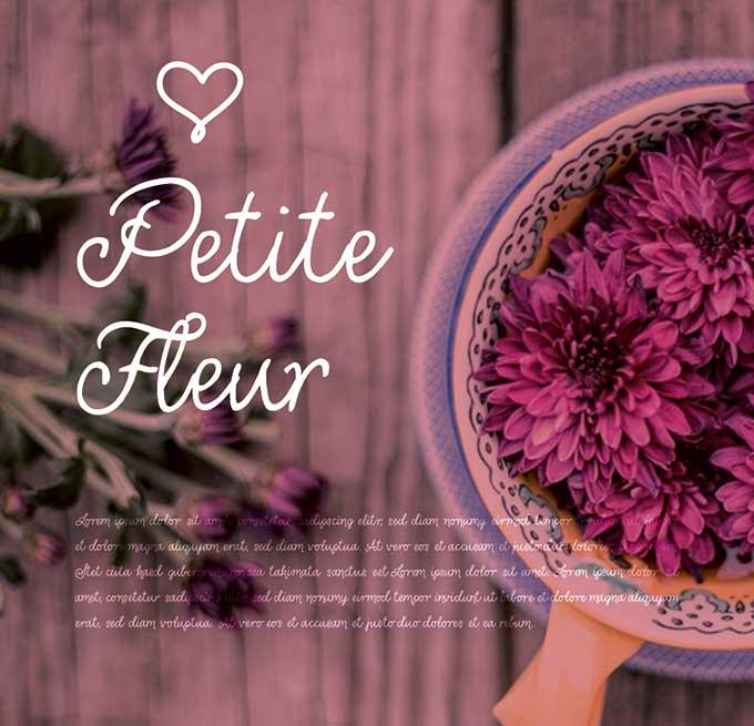 Petite Fleur - Individuelles Speisekarten Design