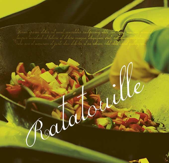 Ratatouille - Individuelles Speisekarten Design