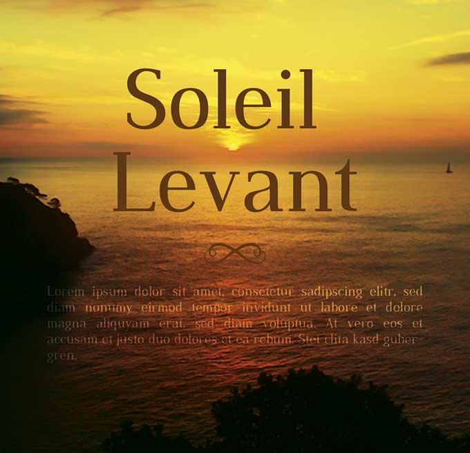 Soleil Levant - Individuelles Speisekarten Design