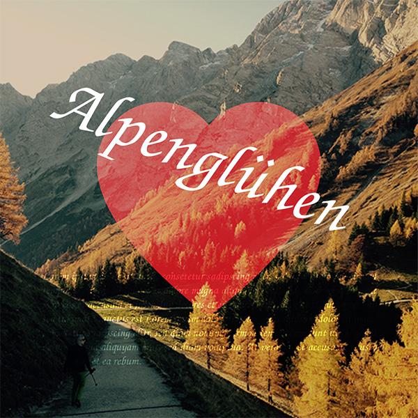 Alpenglühen - Individuelles Speisekarten Design