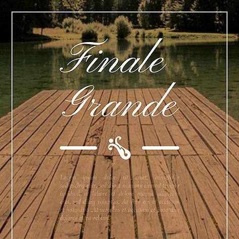 Finale Grande - Individuelles Speisekarten Design