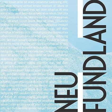 Neufundland - Individuelles Speisekarten Design