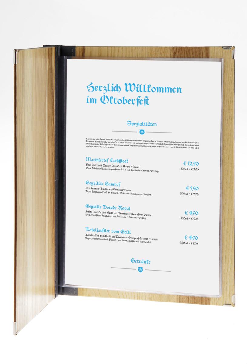 Bavaria - Beispiel - Individuelles Speisekarten Design