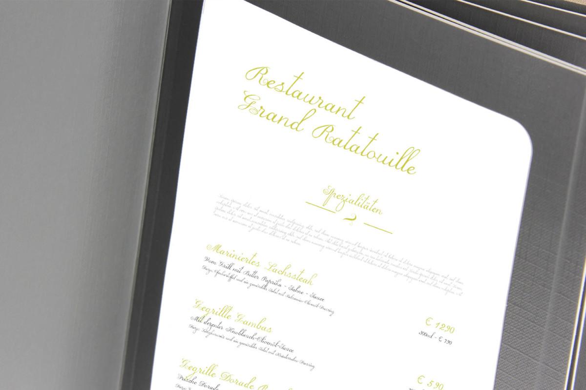 Ratatouille - Beispiel - Individuelles Speisekarten Design